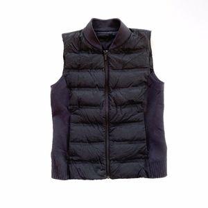 Lululemon Black Puff Goose Down Vest Size 8